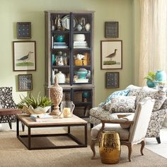 Wisteria - Furniture - Shop by Category - Coffee Tables -  Rectangular Parquet-Top Coffee Table - $999.00