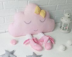Almohadilla de la nube, nube de cojín, almohada nube, vivero decoración, regalos de bebé niña