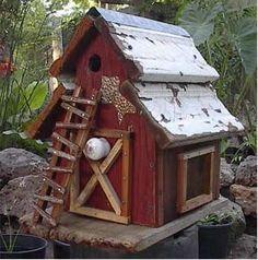 Home / / Rustic Barn Birdhouse Plus