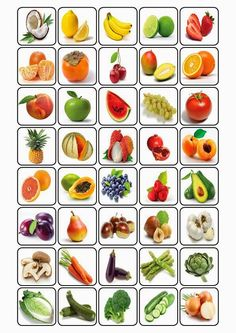 bingo over fruit Fruit And Veg, Fruits And Veggies, Vegetables, Preschool Worksheets, Preschool Activities, Bingo, Nutrition Activities, Kids Education, Kids And Parenting