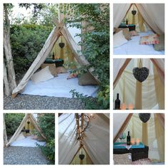 Fun and easy tent for romantic picnics!