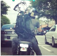 Norman riding around in #GA w/his crossbow 7/11/14