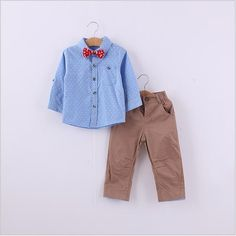 Boys Gentleman Style Autumn Clothes Sets Outfits 2015 Children Long Sleeve Gentleman Shirt+Pants+Bowtie Fashion Boy Suits Kids Clothing From Lds6890280, $77.47 | Dhgate.Com