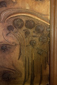 Art Nouveau decorative elements.