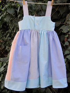 Daddy's Little Girl DressUpcycled from Men's Dress by gumdroptree, $38.00