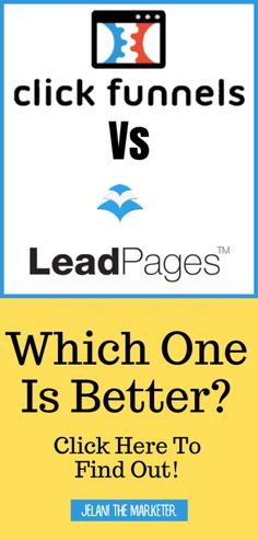 Are you looking for a software for your business? You may have heard of Clickfunnels or LeadPages before and may wonder which one is the best for your business. In this post I go over pros and cons of both and which one may be the best for your business! Email Marketing Companies, Email Marketing Strategy, Marketing Software, Affiliate Marketing, Create Landing Page, Network Marketing Tips, Starting Your Own Business, Make Money Blogging, Business Tips