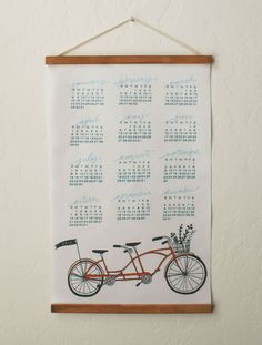 2012 bicycle fabric calendar by Lisa Rupp Design