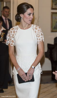 Kate In Lela Rose Cocktail Dress & A Theory On Why She Wore An American Designer » What Kate Wore
