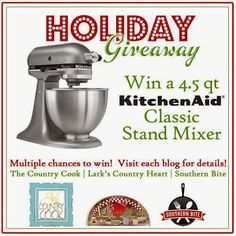 KitchenAid Stand Mixer Giveaway on The Country Cook!