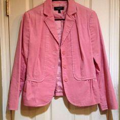 Talbots Pink Corduroy Size 4 Blazer