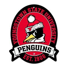 11X13 Youngstown State University Penguins Wood Street Sign   Herta Store