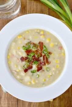 Creamy No Cream Sweet Corn and Potato Chowder | iowagirleats.com
