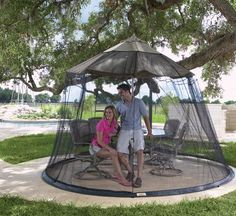 55% off a patio umbrella net. Perfect for warm summer nights!