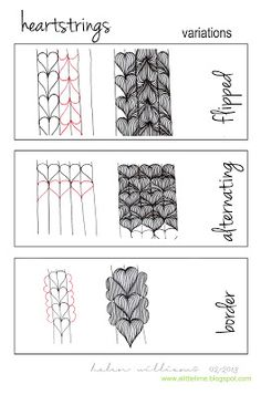 Heartstrings Tangle Pattern