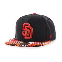 San Diego Padres Ruffian Captain Black 47 Brand Adjustable Hat c03f008aa41