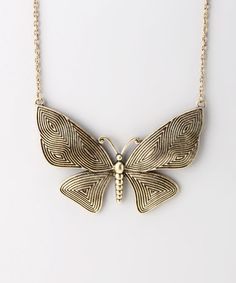 Take a look at this Gold Butterfly Necklace by ZAD on #zulily today! $12 !!