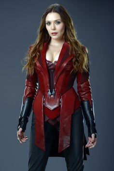 NEW Elizabeth Olsen as Scarlet Witch in promotional photo from Avengers Age Of Ultron Marvel Dc, Wanda Marvel, Marvel Women, Marvel Girls, Marvel Heroes, Marvel Comics, Captain Marvel, Scarlet Witch Marvel, Scarlet Witch Costume