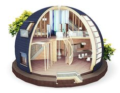 Top 40 Geodesic Dome Home Ideas 2018 Geodesic Dome Homes, Dome House, Earth Homes, Tiny House Design, Design Case, Building A House, Architecture Design, Language, Tiny Houses