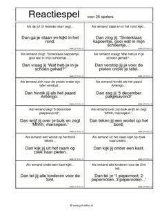 Reactiespelen rond verschillende thema's en ook het aantal lln. Kan je aanpassen Learn Dutch, School Games, Team Building, Diy For Kids, Storytelling, Coaching, Classroom, Teacher, Learning