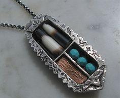 Lora Hart's Beautiful work. Metal clay
