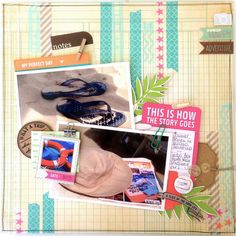 Layout by Michelle www.crela.ch #scrapbooking