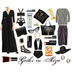 Goths in Ibiza, created by missclare on Polyvore