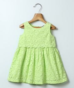 Another great find on #zulily! Lime Lace A-Line Dress - Infant & Toddler #zulilyfinds
