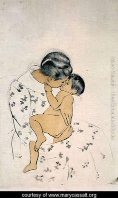 Mother's Kiss - Mary Cassatt - www.marycassatt.org