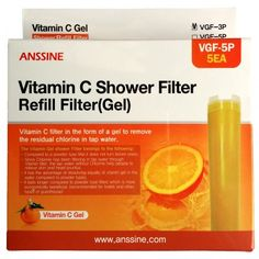 "Vitamin gel fresh shower Tap water chlorine removal Long lasting refill shower filter cartridge New 5P for Sonaki,PLM(CVS-100) and filter size(0.98 ""X4.13"")model"