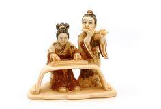 Mammoth Ivory Netsuke - Couple of Musicians