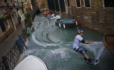 Wakeboarding in Venice