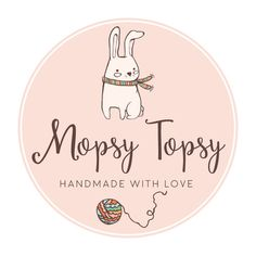 Premade Logo - Bunny & Yarn Premade Logo Design - Customized with Your Business Name!