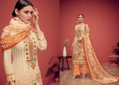 Lawn Cotton Embroidered Dress Material with Mal Mal Dupatta from Stf Store Indian Ladies Dress, Lehenga, Saree, Suit Fabric, Lawn Suits, Satin Top, Indian Ethnic Wear, Salwar Kameez, Trendy Fashion