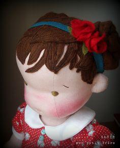 https://flic.kr/p/qDK5Zw | Sadie -Handmade natural fiber doll by Mon Petit Frère