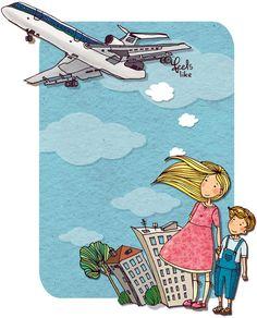 Просмотреть иллюстрацию Самолет из сообщества русскоязычных художников автора Nastya Kamentsova в стилях: Классика, нарисованная техниками: Другое.