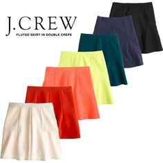 J. Crew Skirt in Fluted Double Crepe-- On Sale! (I have the navy one and love it!)