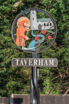 Taverham Village Sign in Norfolk England | by Old Greyhead