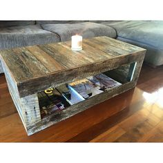 by recyclemecreations Recycled Timber Furniture, Pallet Furniture, Furniture Making, Furniture Ideas, Fruit Shop, Old Fences, Reclaimed Timber, Crates, Hardwood