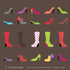 Patterned Shoes by viveradesign on Etsy (1000 x 1000) - clothing (could be cropped a bit if desired)
