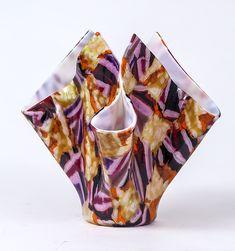 Abstract Purple Vessel by Varda Avnisan - art glass vessel (Art Glass Vessel) Glass Vessel, Glass Art, Bullseye Glass, Glass Center, Glass Paperweights, Modern Glass, Leaded Glass, New Art, Abstract