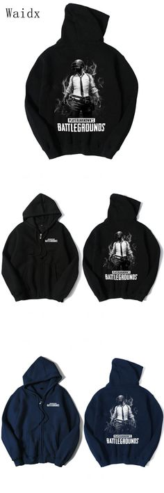 Waidx Hot Game Playerunknown's Battlegrounds 3D Digital Printed Cotton Autumn Hoody Pocket Outerwear Unisex Coat Winter