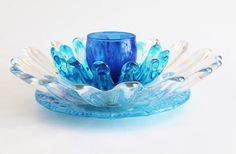 Recycled 'SEA BLUE CORAL' Vintage Glass Flower ........................................ by TheBlueRam (via Etsy.com)