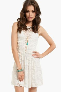 Shelly Lace Skater Dress $33 at www.tobi.com