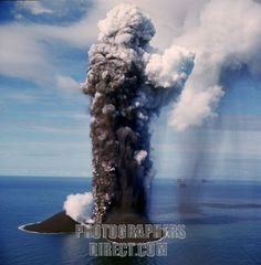 Surtsey , Volcanic Eruption , South Coast Iceland 1963 stock photo