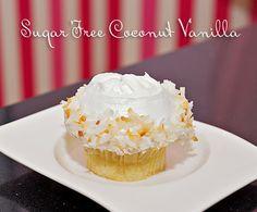 Casey's Cupcakes' Sugar-free Coconut Vanilla Cupcake. #caseyscupcakes www.caseyscupcake.com