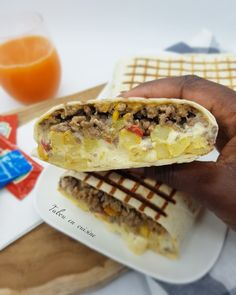 Meat Recipes 89832 Ground meat tacos with cheese sauce (o'tacos) - Tabou En Cuisine Wrap Recipes, Quick Recipes, Quick Easy Meals, Kebab Recipes, Snacks Recipes, Easy Snacks, Easy Dinners, Pizza Recipes, Dinner Recipes