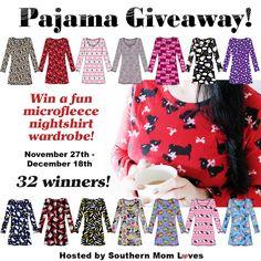 Women's Nightshirt Wardrobe Giveaway Event - 32 Winners! (12/18 US) | Dorky's Deals