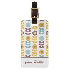 Cute Floral Pattern Bag Tags | #LuggageTags #travel #Accessories #AwesomeProducts