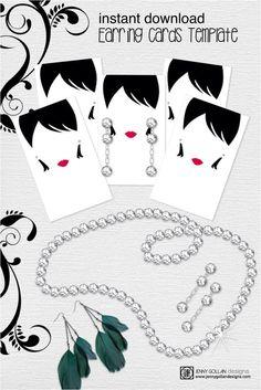 custom earring card turquoise vintage display card pinterest