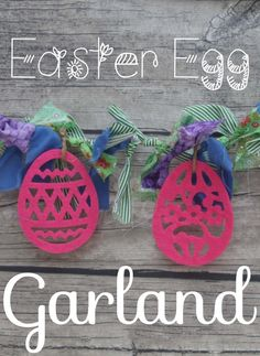 Easter Egg Garland with felt eggs from Nap-Time Creations
